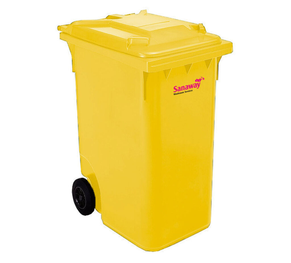 yellow 360L bin