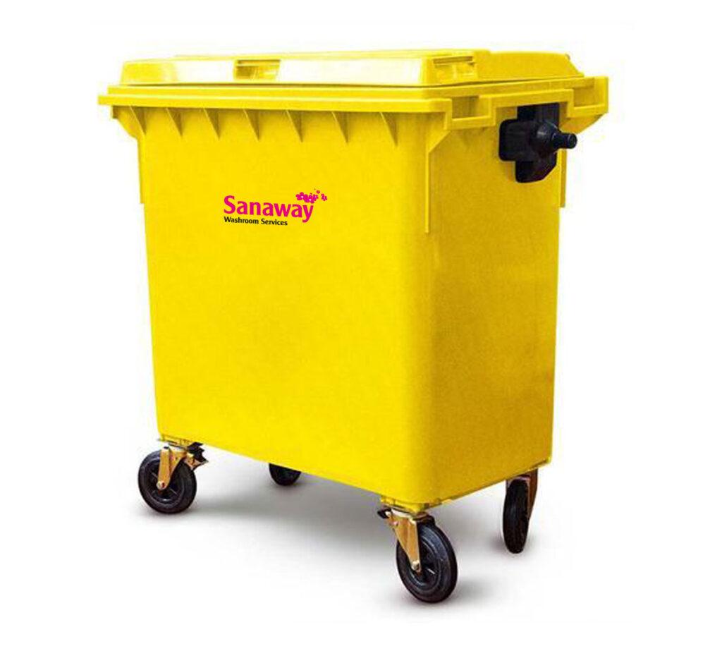 yellow 770L bin